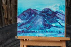 Blue Taos Mountain, oil