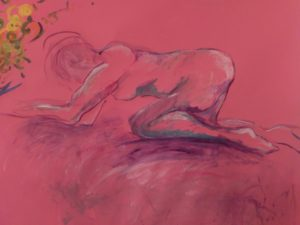 Woman on Pink acrylic